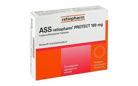 ASS ratiopharm protect 100 mg 100 Tbl.  2,70 €