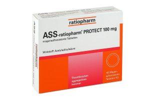 ASS ratiopharm protect 100 mg 100 Tbl.  2,65 €