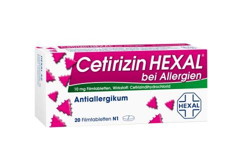 Cetirizin Hexal bei Allergien 20 Tbl. 4,95€