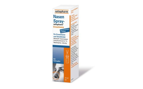 Nasenspray ratiopharm für Erwachsene 10ml  2,95€