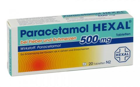 Paracetamol 500 Hexal Tbl. 20  1,50 €